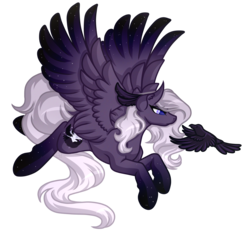 Size: 4601x4265   Tagged: safe, artist:amazing-artsong, oc, oc only, oc:raven sky, bird, pegasus, pony, raven (bird), absurd resolution, commission, flying, simple background, transparent background
