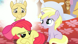 Size: 1280x720 | Tagged: apple bloom, dinky hooves, grand pear, heidi, homesick, safe