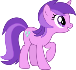 Size: 3256x3000 | Tagged: .ai available, amethyst star, artist:cloudyglow, female, mare, pony, raised hoof, safe, simple background, solo, sparkler, the super speedy cider squeezy 6000, transparent background, unicorn, vector