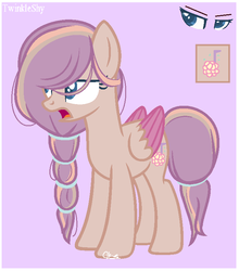 Size: 697x791 | Tagged: artist:nini-the-angel-kitty, female, magical lesbian spawn, mare, oc, offspring, parent:fluttershy, parents:twishy, parent:twilight sparkle, pegasus, pony, reference sheet, safe, solo