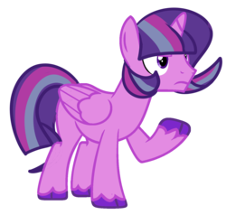 Size: 1354x1287 | Tagged: alicorn, artist:unicorn-mutual, magical lesbian spawn, male, oc, offspring, parent:starlight glimmer, parents:twistarlight, parent:twilight sparkle, pony, safe, solo, stallion