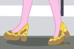 Size: 384x255 | Tagged: artist:thedarkpony, clothes, dean cadance, edit, edited screencap, equestria girls, legs, mud, muddy, mud edit, pictures of legs, princess cadance, safe, screencap, shoes