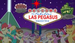 Size: 3727x2150 | Tagged: safe, alternate version, artist:ironm17, cayenne, citrus blush, crimson cream, fashion statement, honey curls, lily love, mare e. belle, mare e. lynn, north point, pearmain worcester, pegasus olsen, peggy holstein, pinot noir, pretzel twist, shiraz, silver berry, sweet biscuit, earth pony, pony, unicorn, eyes closed, group, las pegasus, night, singing