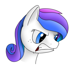 Size: 1400x1300 | Tagged: angry, artist:silver dash, bust, colored sketch, derpibooru exclusive, face, female, freckles, head, mare, multicolored mane, oc, oc only, oc:spectral bolt, pegasus, pony, safe, shading practice, simple background, transparent background