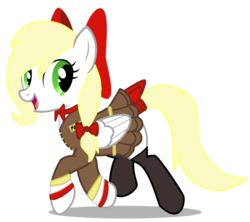 Size: 743x659 | Tagged: artist:anonymous, aryan pony, bow, clothes, cute, edit, female, oc, oc:kyrie, pegasus, safe, skirt, socks, uniform, vector, walking