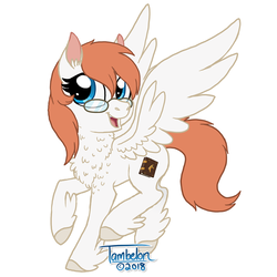Size: 800x800 | Tagged: safe, artist:tambelon, oc, oc only, oc:doctor sunfire, pegasus, pony, commission, commissioner:alkonium, female, glasses, mare, solo, unshorn fetlocks