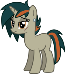 Size: 876x1000 | Tagged: artist:peahead, oc, oc:ana falkenhart, oc only, pony, safe, simple background, solo, transparent background, unicorn