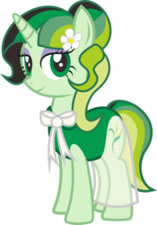 Size: 4529x6464 | Tagged: artist:alphatea, clothes, dress, female, jasmine, mare, new, new cutie mark, oc, oc:caca yasmina, rule 63, safe, smiling, standing, unicorn