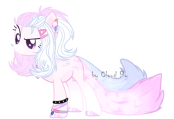 Size: 2061x1421 | Tagged: artist:cloud-fly, earth pony, female, mare, oc, pony, safe, simple background, solo, transparent background