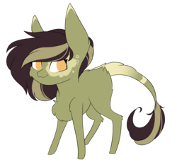 Size: 2969x2721 | Tagged: artist:crazllana, chibi, earth pony, female, mare, oc, oc:green tea, pony, safe, simple background, solo, transparent background