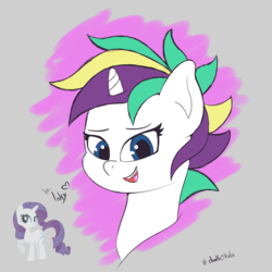 Size: 2500x2500   Tagged: safe, artist:tonystorm12, rarity, pony, unicorn, it isn't the mane thing about you, alternate hairstyle, female, mare, punk, raripunk, solo