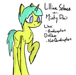 Size: 1026x1017 | Tagged: artist:aquaholicsanonymous, character introduction, female, mare focus, oc, oc:minty flair, oc only, raised hoof, safe, simple background, solo, transparent background, unicorn
