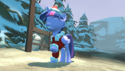 Size: 1280x720 | Tagged: 3d, alicorn, artist:mrm, christmas, clothes, costume, female, holiday, pony, safe, santa costume, solo, solo female, source filmmaker, twilight sparkle, twilight sparkle (alicorn)