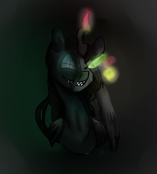 Size: 1400x1550 | Tagged: glowing eyes, looking at you, magic, oc, oc:crysome, oc only, oc:somecry, safe, sharp teeth, smiling, teeth