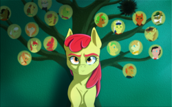 Size: 1280x800 | Tagged: apple bloom, apple family, applejack, artist:3lorenzo3, aunt orange, big macintosh, braeburn, bright mac, earth pony, family tree, female, filly, granny smith, male, mare, mosely orange, pear butter, safe, solo, stallion, uncle orange