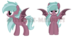 Size: 1651x850 | Tagged: artist:missmele-madness, bat pony, female, mare, obtrusive watermark, oc, oc:heather, pony, safe, simple background, solo, spread wings, transparent background, wings