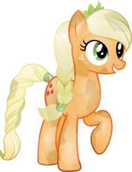 Size: 4226x5500 | Tagged: safe, artist:theshadowstone, applejack, crystal pony, earth pony, pony, absurd resolution, braid, braided tail, crystallized, female, mare, missing accessory, simple background, solo, tail wrap, transparent background, vector