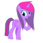 Size: 768x768 | Tagged: alicorn, artist:wondersparkle, oc, oc only, oc:twilight schwifty, pony, safe, simple background, smiling, solo, transparent background, vector