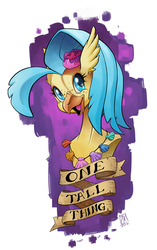 Size: 642x1024   Tagged: safe, artist:zwitterkitsune, princess skystar, classical hippogriff, hippogriff, my little pony: the movie, bust, female, one small thing, portrait, seashell necklace, smiling, solo, tall