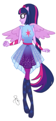 Size: 958x2048 | Tagged: safe, artist:ilaria122, sci-twi, twilight sparkle, equestria girls, equestria girls series, forgotten friendship, clothes, female, open mouth, ponied up, scitwilicorn, simple background, solo, transparent background