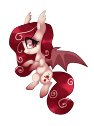 Size: 1024x1365 | Tagged: safe, artist:kaikururu, oc, oc only, bat pony, pony, chibi, simple background, smiling, solo, transparent background