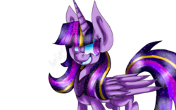 Size: 1024x640 | Tagged: alicorn, artist:carritrap, grin, pony, rainbow power, safe, simple background, smiling, solo, transparent background, twilight sparkle, twilight sparkle (alicorn)