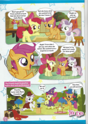 Size: 826x1169 | Tagged: apple bloom, comic, cutie mark crusaders, magazine scan, safe, scootaloo, sweetie belle