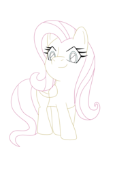 Size: 3495x5168 | Tagged: artist:sergeant16bit, commission example, fluttershy, ink, safe, simple background, solo, transparent background