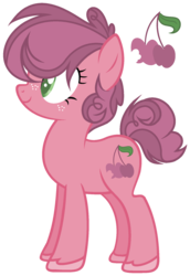 Size: 1281x1857 | Tagged: artist:marielle5breda, earth pony, female, mare, oc, oc only, offspring, parent:big macintosh, parents:sugarmac, parent:sugar belle, pony, safe, simple background, solo, transparent background