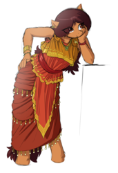 Size: 2563x3758 | Tagged: safe, artist:the-minuscule-task, oc, oc only, oc:hyklyso, earth pony, anthro, unguligrade anthro, ancient greece, armpits, bracelet, breasts, chiton, clothes, ear piercing, earring, female, greek, greek clothes, jewelry, long hair, long mane, mare, necklace, piercing, reasonably shaped breasts, reasonably sized breasts, small breasts, solo