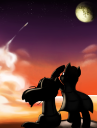 Size: 1515x1997 | Tagged: safe, artist:qbellas, pony, game:to the moon, mare in the moon, moon, ponies, ponified, to the moon