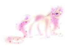 Size: 1024x614 | Tagged: safe, artist:kiara-kitten, fluttershy, pony, unicorn, leak, spoiler:g5, fluttershy (g5), g5, race swap, solo, unicorn fluttershy