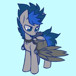 Size: 900x900 | Tagged: safe, artist:dawnfire, oc, oc only, oc:starfall spark, oc:vibrant star, pony, augmented, male, simple background, solo, stallion
