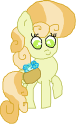 Size: 404x646 | Tagged: safe, artist:cottoncloudyfilly, junebug, earth pony, pony, female, simple background, solo, white background