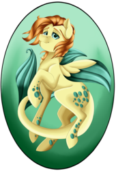 Size: 2494x3661 | Tagged: safe, artist:crecious, oc, oc only, oc:coral charm, hybrid, original species, pony, high res, male, seapegasus, seaquestrian, solo, stallion