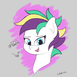 Size: 2500x2500   Tagged: safe, artist:tonystorm12, oc, oc only, pony, female, mare, punk, smiling, solo