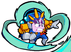 Size: 680x500 | Tagged: safe, artist:xebck, color edit, edit, starlight glimmer, angry, boss, captain, clothes, colored, cropped, crossover, faic, game, hood, levitation, magic, medal, meme, nuclear throne, quiet, rage face, ragelight glimmer, self-levitation, simple background, solo, telekinesis, transparent background, uniform, vector, vein bulge