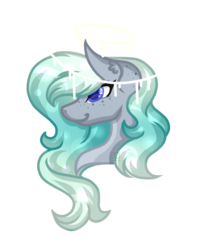 Size: 1924x2418   Tagged: safe, artist:amazing-artsong, oc, oc only, oc:beautiful melody, pony, bust, commission, halo, portrait, simple background, transparent background
