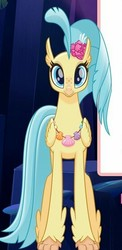 Size: 271x555   Tagged: safe, princess skystar, classical hippogriff, hippogriff, my little pony: the movie, cute, female, front view, seashell necklace, skyabetes, solo, sweet dreams fuel