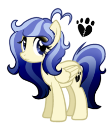 Size: 869x993 | Tagged: safe, artist:6-fingers-lover, oc, oc only, oc:ghost heart, pegasus, pony, female, magical lesbian spawn, mare, offspring, parent:doctor fauna, parent:fluttershy, parents:faunashy, simple background, solo, white background