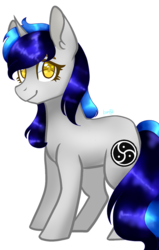 Size: 611x960 | Tagged: safe, artist:cheerymoon2017, oc, oc only, oc:cappie, pony, male, simple background, solo, stallion