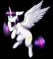 Size: 1444x1600 | Tagged: safe, artist:despotshy, oc, oc only, oc:twily star, alicorn, pony, alicorn oc, female, flying, mare, not twilight sparkle, simple background, solo, transparent background
