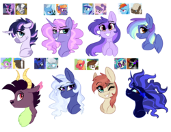 Size: 2000x1552 | Tagged: safe, artist:saphi-boo, big macintosh, chief thunderhooves, dj pon-3, dumbbell, frazzle rock, king sombra, minuette, pipsqueak, princess luna, rainbow dash, silver spoon, spike, suri polomare, trixie, twilight sparkle, vinyl scratch, zecora, oc, alicorn, dragon, earth pony, half-dragon, hybrid, pegasus, pony, unicorn, zony, bust, crack ship offspring, dumbdash, female, frazzletrix, gay, interspecies offspring, lesbian, magical gay spawn, magical lesbian spawn, male, mare, minumare, offspring, parent:big macintosh, parent:chief thunderhooves, parent:dumbbell, parent:frazzle rock, parent:king sombra, parent:minuette, parent:pipsqueak, parent:princess luna, parent:rainbow dash, parent:silver spoon, parent:spike, parent:suri polomare, parent:trixie, parent:twilight sparkle, parent:vinyl scratch, parent:zecora, parents:dumbdash, parents:frazzletrix, parents:minumare, parents:pipmac, parents:silverluna, parents:thunderspike, parents:twicora, parents:vinylsombra, pipmac, shipping, silverluna, simple background, straight, thunderspike, transparent background, twicora, twilight sparkle (alicorn), vinylsombra