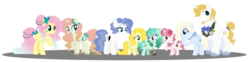 Size: 1024x252 | Tagged: alternate hairstyle, artist:strawberry-spritz, beard, blueshy, facial hair, family, female, fluttershy, male, oc, offspring, parent:fluttershy, parent:prince blueblood, parents:blueshy, prince blueblood, safe, shipping, simple background, straight, transparent background