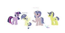 Size: 1829x953 | Tagged: safe, artist:ribbon-creepy, comet tail, twilight sparkle, alicorn, cometlight, family, female, male, offspring, parent:comet tail, parent:twilight sparkle, parents:cometlight, shipping, straight, twilight sparkle (alicorn)