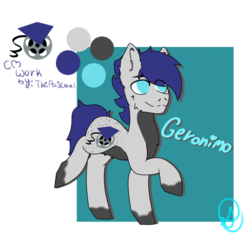 Size: 1024x1024 | Tagged: artist:diane-thorough, gift art, male, oc, oc:geronimo, oc only, reference sheet, safe, simple background, solo, stallion, transparent background