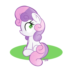 Size: 1280x1280 | Tagged: abstract background, artist:vaetan, safe, simple background, solo, sweetie belle, transparent background