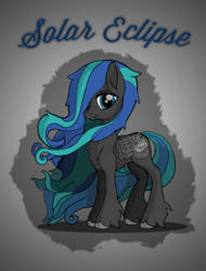 Size: 4320x5676 | Tagged: absurd res, artist:littlepony115, cheek fluff, chest fluff, fangs, female, fluffy, g5, leg fluff, mare, oc, oc only, oc:solar eclipse, pegasus, pony, safe, solo, thief, vampire