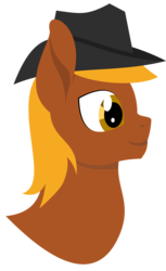 Size: 3003x4891 | Tagged: artist:alltimemine, bust, dashite, fallout equestria, fanfic, fanfic art, inkscape, lineless, male, oc, oc:calamity, oc only, pegasus, pony, portrait, profile, safe, simple background, smiling, solo, transparent background, vector