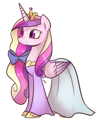 Size: 1258x1555 | Tagged: alicorn, artist:haden-2375, clothes, dress, female, mare, pony, princess cadance, safe, simple background, solo, white background